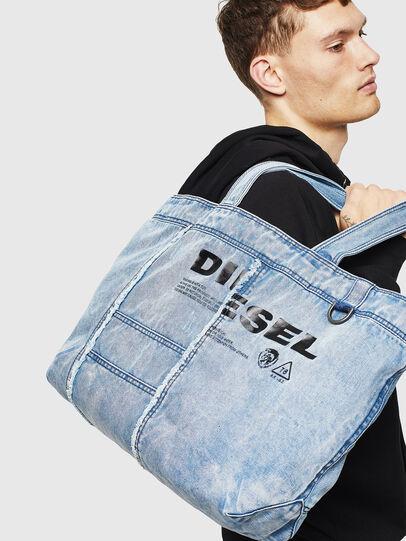 Diesel - D-THISBAG SHOPPER L, Hellblau - Shopper und Schultertaschen - Image 6