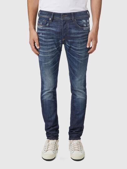 Diesel - Sleenker 09A85, Dunkelblau - Jeans - Image 1