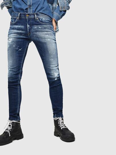 Diesel - Sleenker 0091Y, Mittelblau - Jeans - Image 1
