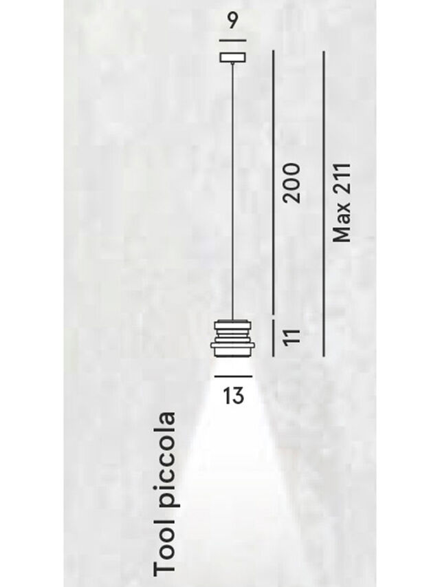 Diesel - TOOL PICCOLA SOSP, Schwarz - Pendellampen - Image 2