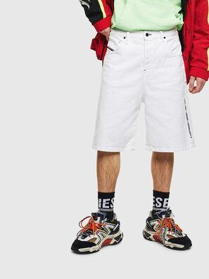 D-BRON, Weiß - Kurze Hosen
