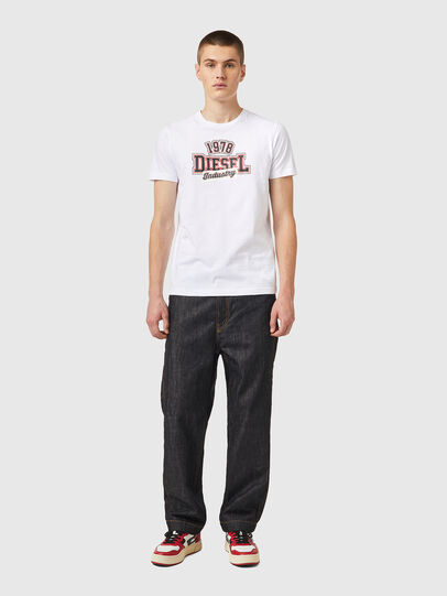 Diesel - T-DIEGOS-K26, Weiss/Rot - T-Shirts - Image 4