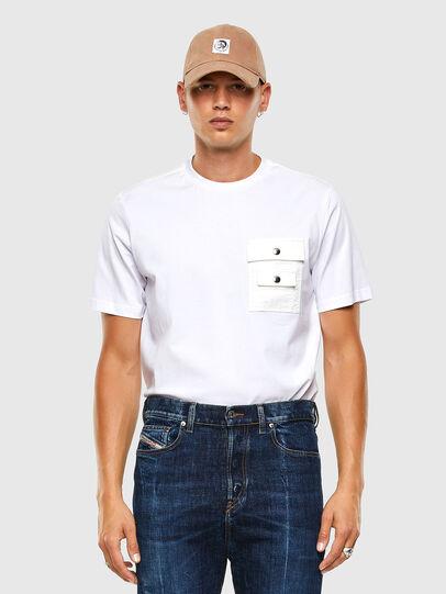 Diesel - T-TASK-SLITS, Weiß - T-Shirts - Image 5