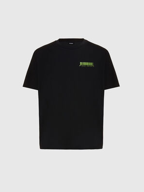 T-JUST-SLITS-X84, Schwarz - T-Shirts