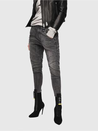 Fayza JoggJeans 8880U, Schwarz/Dunkelgrau - Jeans