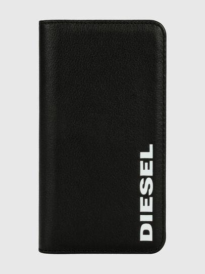 Diesel - DIESEL 2-IN-1 FOLIO CASE FOR IPHONE XR, Schwarz/Weiß - Klappcover - Image 1