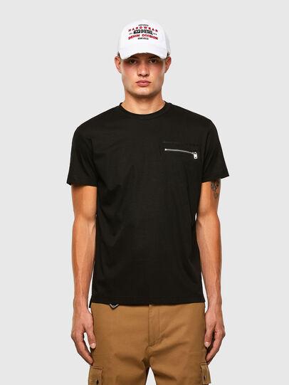 Diesel - T-ZITASK, Schwarz - T-Shirts - Image 1