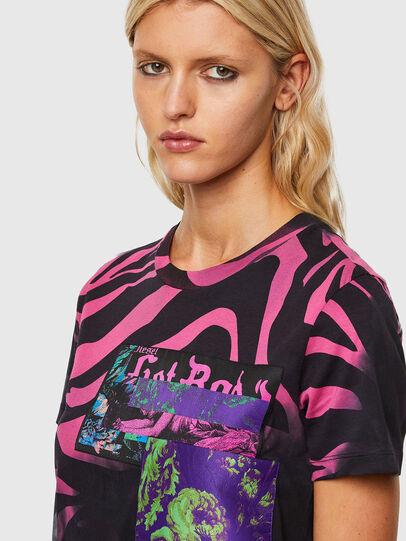 Diesel - T-SILY-R3, Schwarz/Rosa - T-Shirts - Image 3