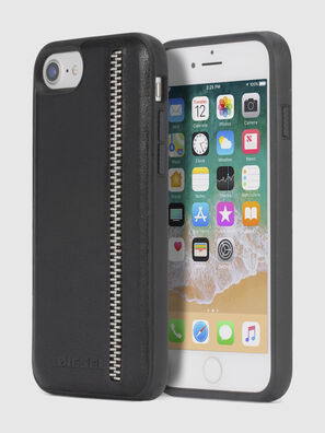 ZIP BLACK LEATHER IPHONE 8 PLUS/7 PLUS/6s PLUS/6 PLUS CASE, Schwarz - Schutzhüllen
