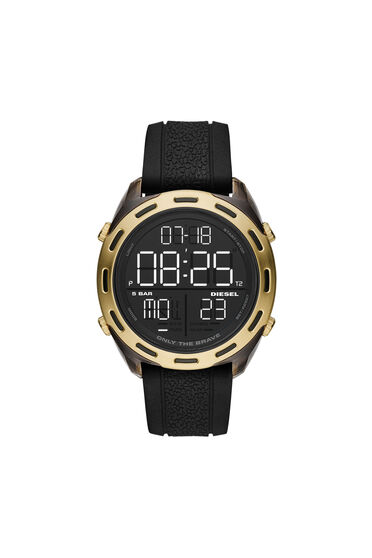 Crusher-Digitaluhr aus schwarzem Silikon