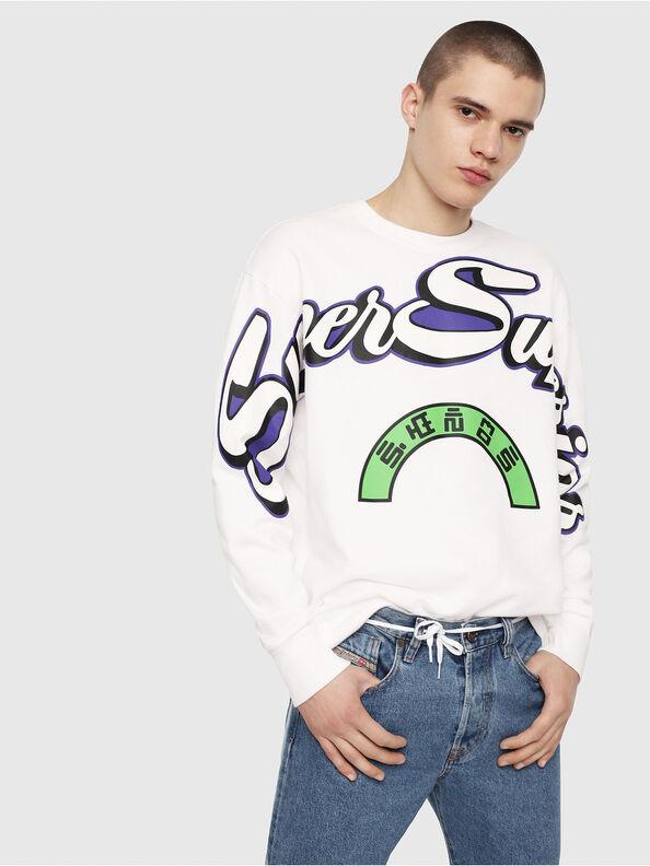 S-BAY-RADIO-PRINT, Weiß - Sweatshirts