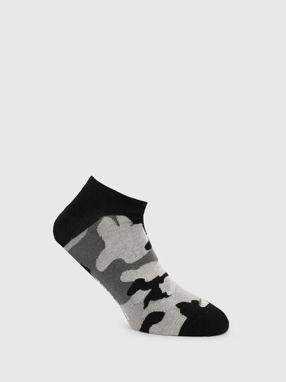 Diesel - SKM-GOST, Schwarz/Grau - Kurze Socken - Image 1