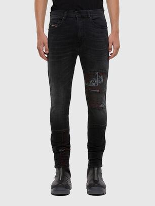 D-Amny 009KS, Schwarz/Dunkelgrau - Jeans