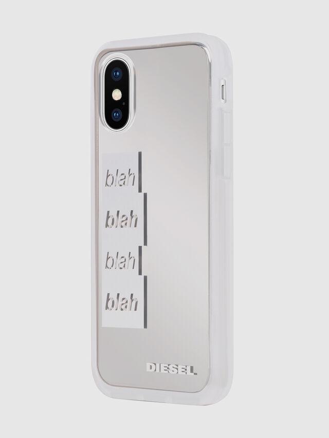 Diesel - BLAH BLAH BLAH IPHONE X CASE, Weiß/Silber - Schutzhüllen - Image 6