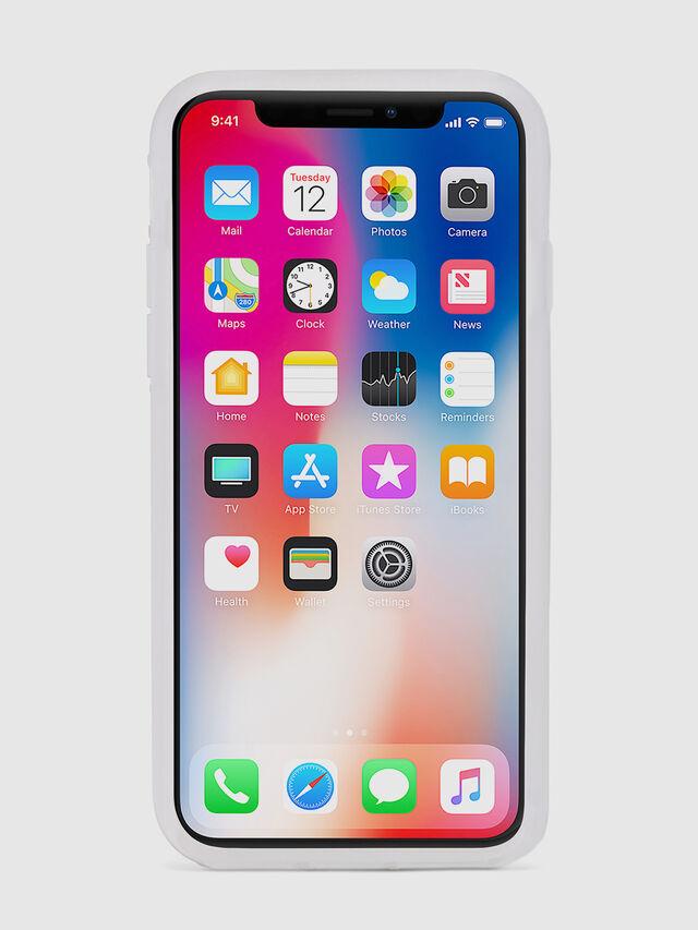 BLAH BLAH BLAH IPHONE X CASE, Weiß/Silber