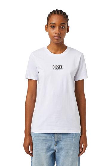 T-Shirt mit kleinem Logo in 3D-Optik