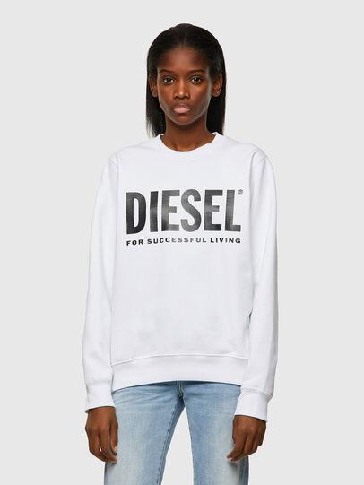 Diesel - F-ANGS-ECOLOGO, Schwarz/Weiss - Sweatshirts - Image 1