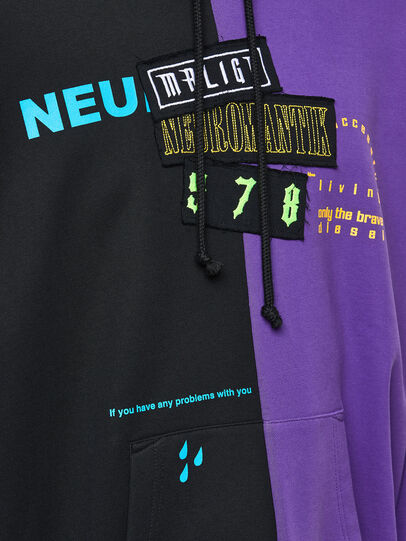 Diesel - S-UMMER-SPLIT-N1, Schwarz/Violett - Sweatshirts - Image 3