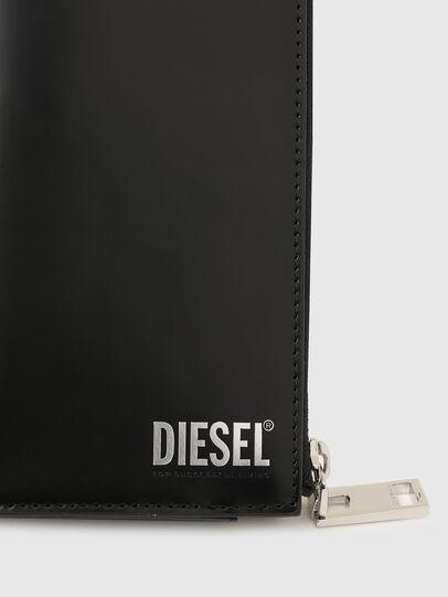 Diesel - L-24 ZIP, Schwarz - Portemonnaies Zip-Around - Image 4