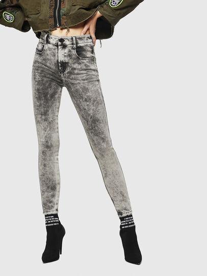 Diesel - Slandy High 069GQ, Hellgrau - Jeans - Image 1