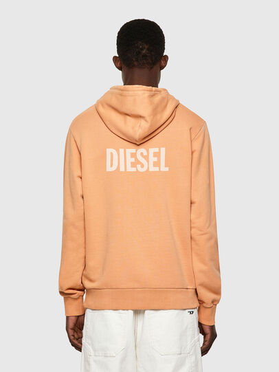 Diesel - S-GIRK-HOOD-B3, Orange - Sweatshirts - Image 2