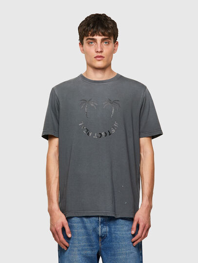 Diesel - T-JUST-B64, Grau - T-Shirts - Image 1