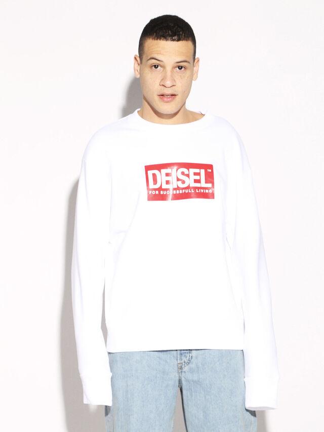 Diesel - DEIS-SGIRO, Weiß - Sweatshirts - Image 5