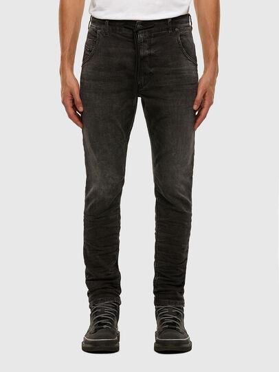 Diesel - Krooley JoggJeans 009FZ, Schwarz/Dunkelgrau - Jeans - Image 1