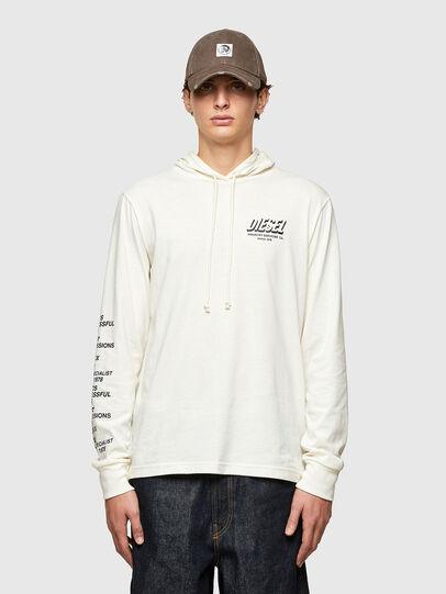 Diesel - T-JUST-LS-HOOD-SLITS, Weiß - T-Shirts - Image 1