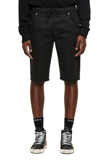 Shorts im Slim Fit aus überfärbtem JoggJeans®-Material