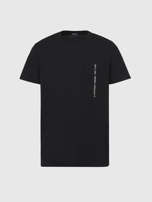 T-RUBIN-POCKET-J1, Schwarz - T-Shirts