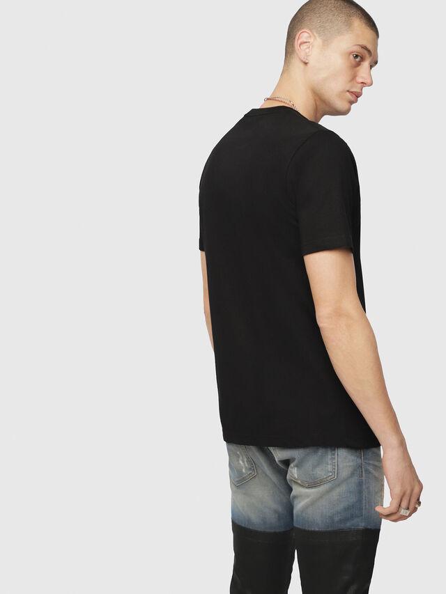 Diesel - T-JUST-DIVISION, Schwarz - T-Shirts - Image 2