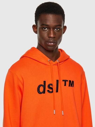 Diesel - S-GIRK-HOOD-B4, Orange - Sweatshirts - Image 3