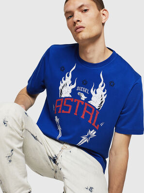 T-JUST-A5, Brillantblau - T-Shirts