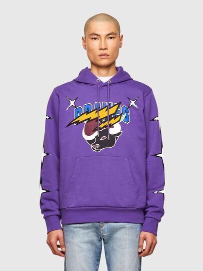 Diesel - CL-S-GIRK-HOOD-O1, Violett - Sweatshirts - Image 1