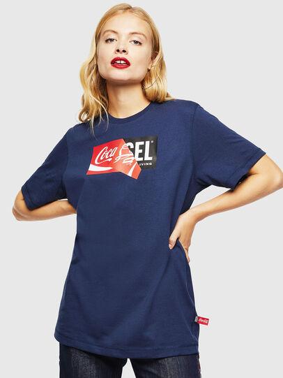 Diesel - CC-T-JUST-COLA, Dunkelblau - T-Shirts - Image 2