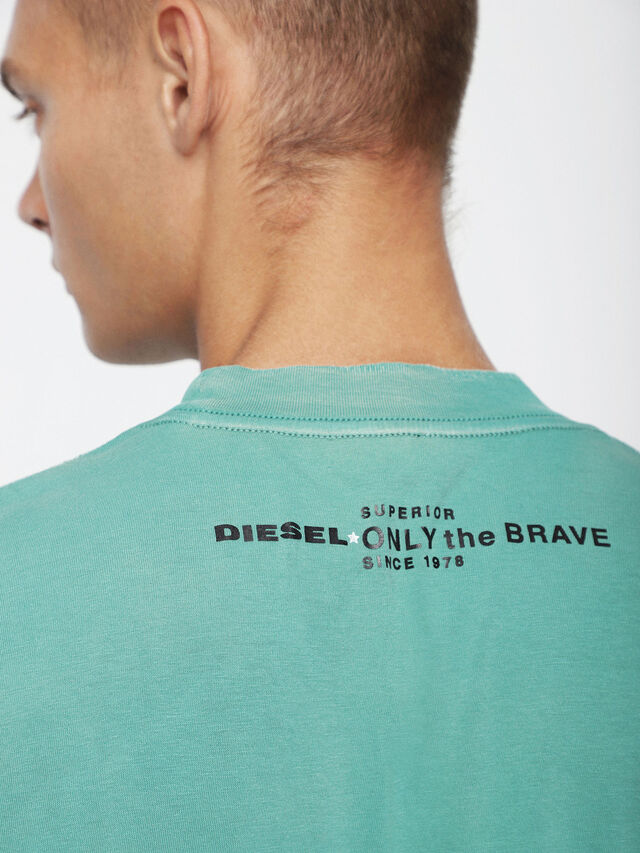 Diesel - T-JOEY-T, Wassergrün - T-Shirts - Image 3