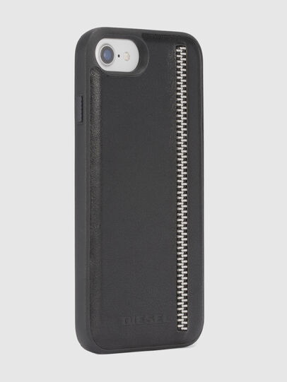 Diesel - ZIP BLACK LEATHER IPHONE 8 PLUS/7 PLUS/6s PLUS/6 PLUS CASE, Schwarz - Schutzhüllen - Image 5