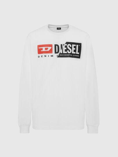 Diesel - T-DIEGO-LS-CUTY, Weiß - T-Shirts - Image 1