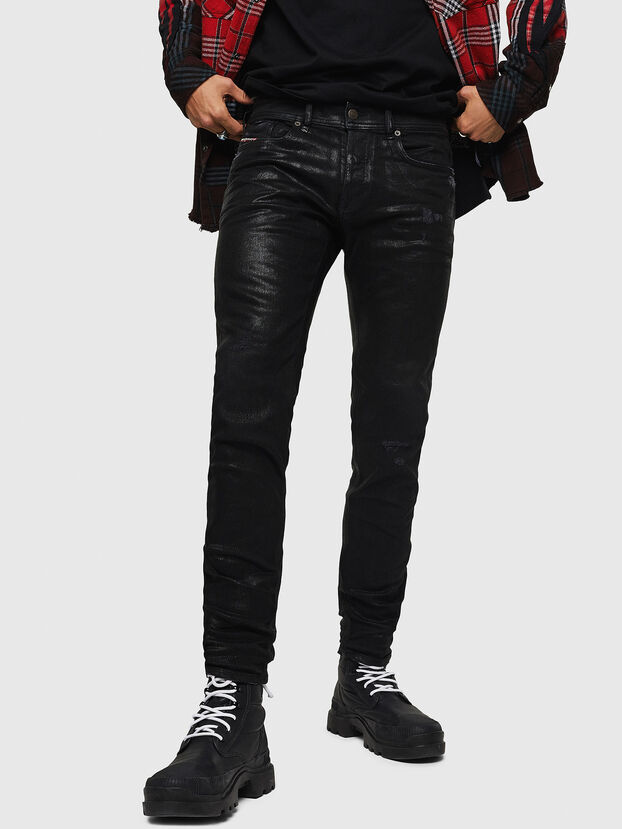 Sleenker 0091F, Schwarz/Dunkelgrau - Jeans