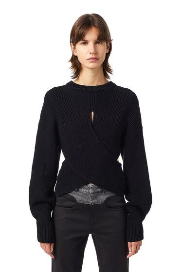 Pullover mit Cutout und Wickeleffekt
