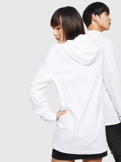 Diesel - CL-T-JUST-LS-HOOD, Weiß - T-Shirts - Image 3