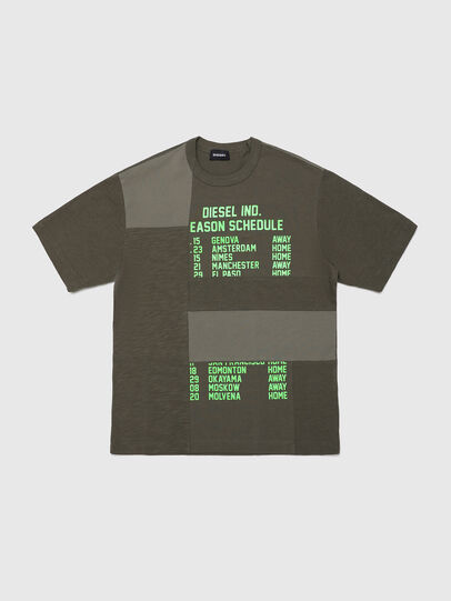 Diesel - TATCHWORK OVER, Armeegrün - T-Shirts und Tops - Image 1