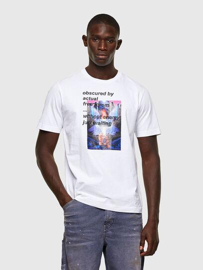 Diesel - T-JUST-A43, Weiß - T-Shirts - Image 1