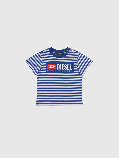 Diesel - TVIKB, Blau/Weiß - T-Shirts und Tops - Image 1