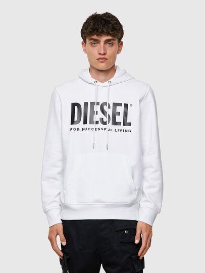 Diesel - S-GIRK-HOOD-ECOLOGO, Weiß - Sweatshirts - Image 1