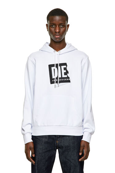 Kapuzensweatshirt mit gefaltetem Jacquard-Label
