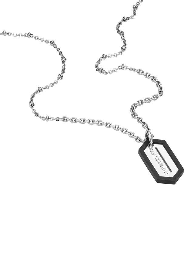 Diesel - NECKLACE DX0995, Silber - Halsketten - Image 2
