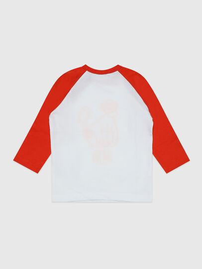 Diesel - TBALYB, Weiss/Orange - T-Shirts und Tops - Image 2
