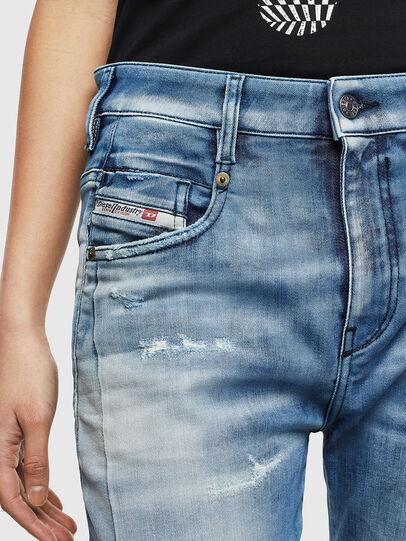 Diesel - Fayza JoggJeans 0099Q, Mittelblau - Jeans - Image 3